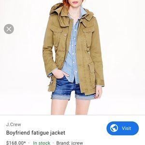 Jcrew   Boyfriend fatigue jacket NWT! RARE